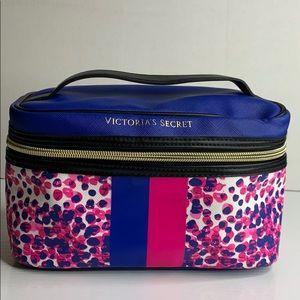 Victoria's Secret Pink and Blue Makeup Train case